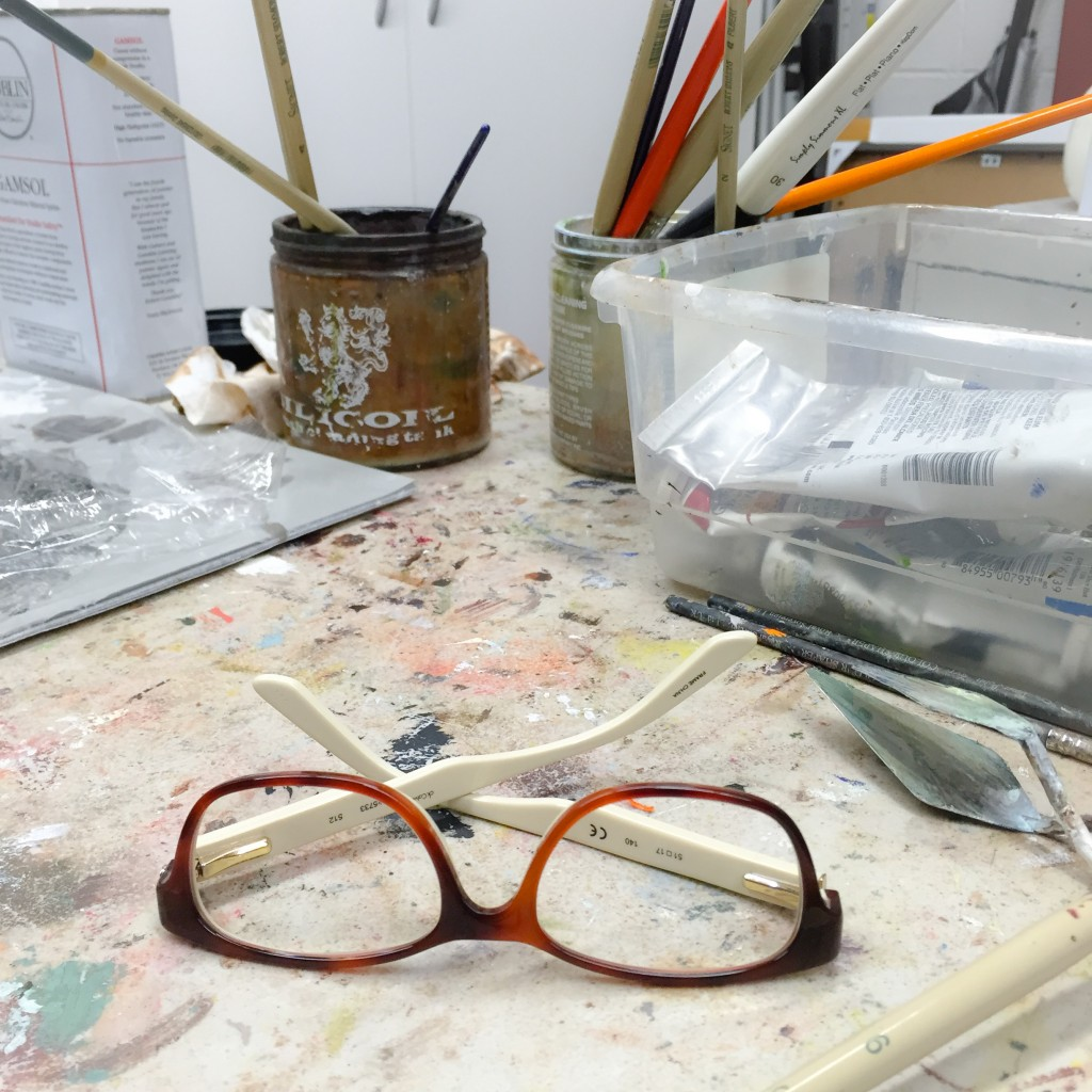 painting glasses