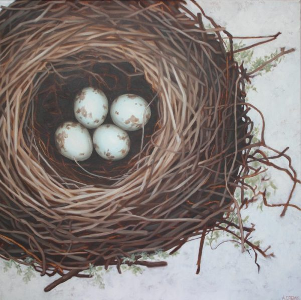 Original Nest Painting For Sale by Amy Crews