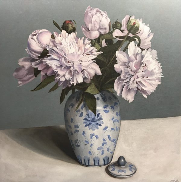 pink-peony-still-life-painting-for-sale-by-Amy-Crews