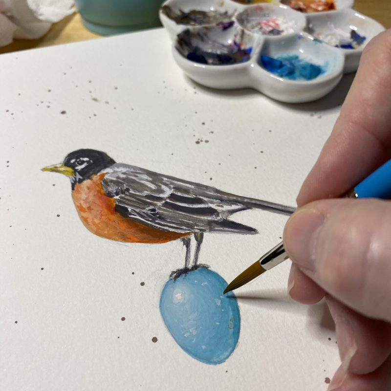 Painting the original robin