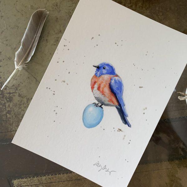 """Bluebird"" print"