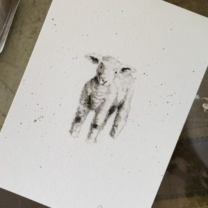 """Little Lamb"" print"