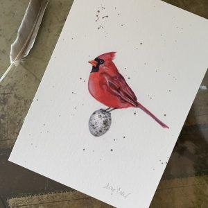 """""""Mr."""" Cardinal print"""